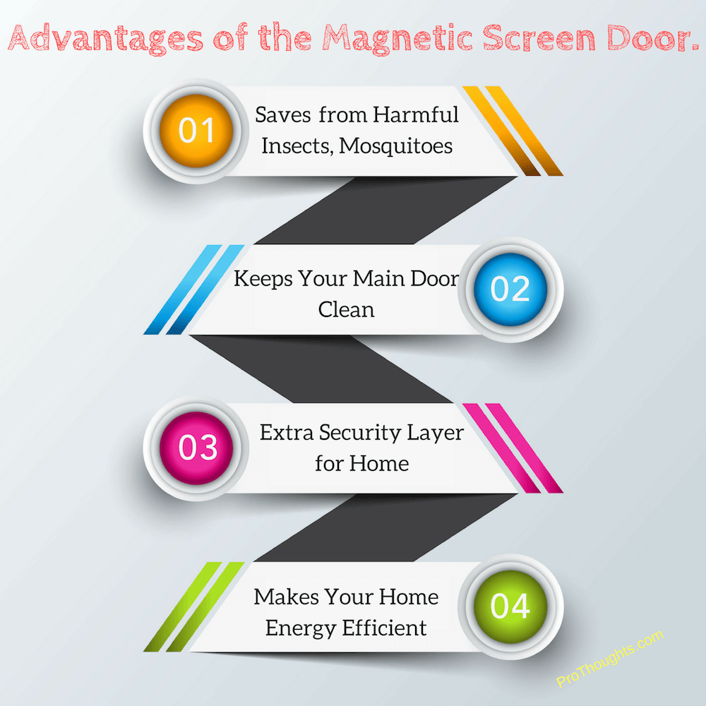advantages of magnetic screen door